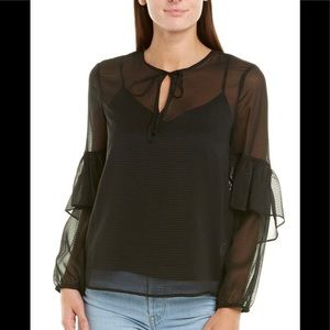 1 State Dropped Shoulder Ruffle Detailed Blouse